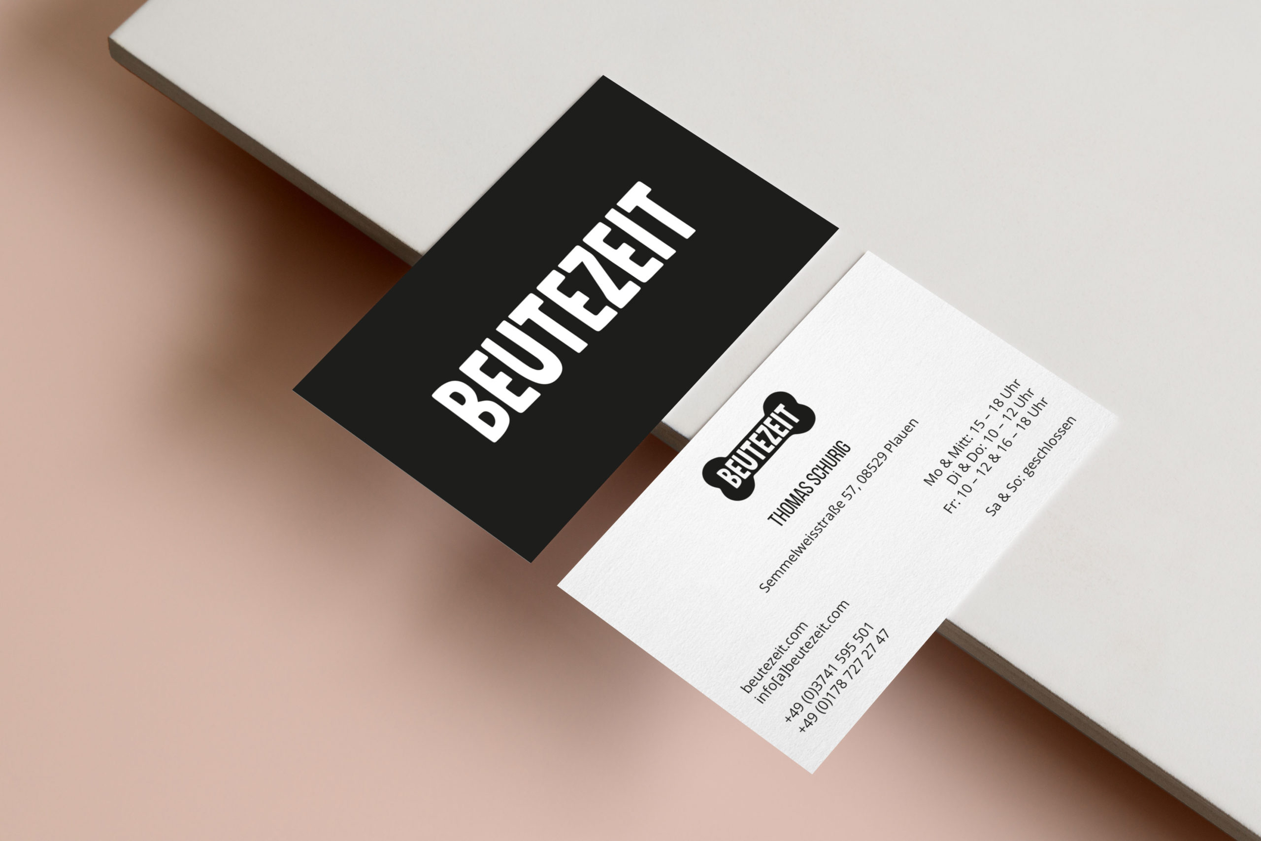 BEUTEZEIT, Visitenkarten, Design von Zena Bala
