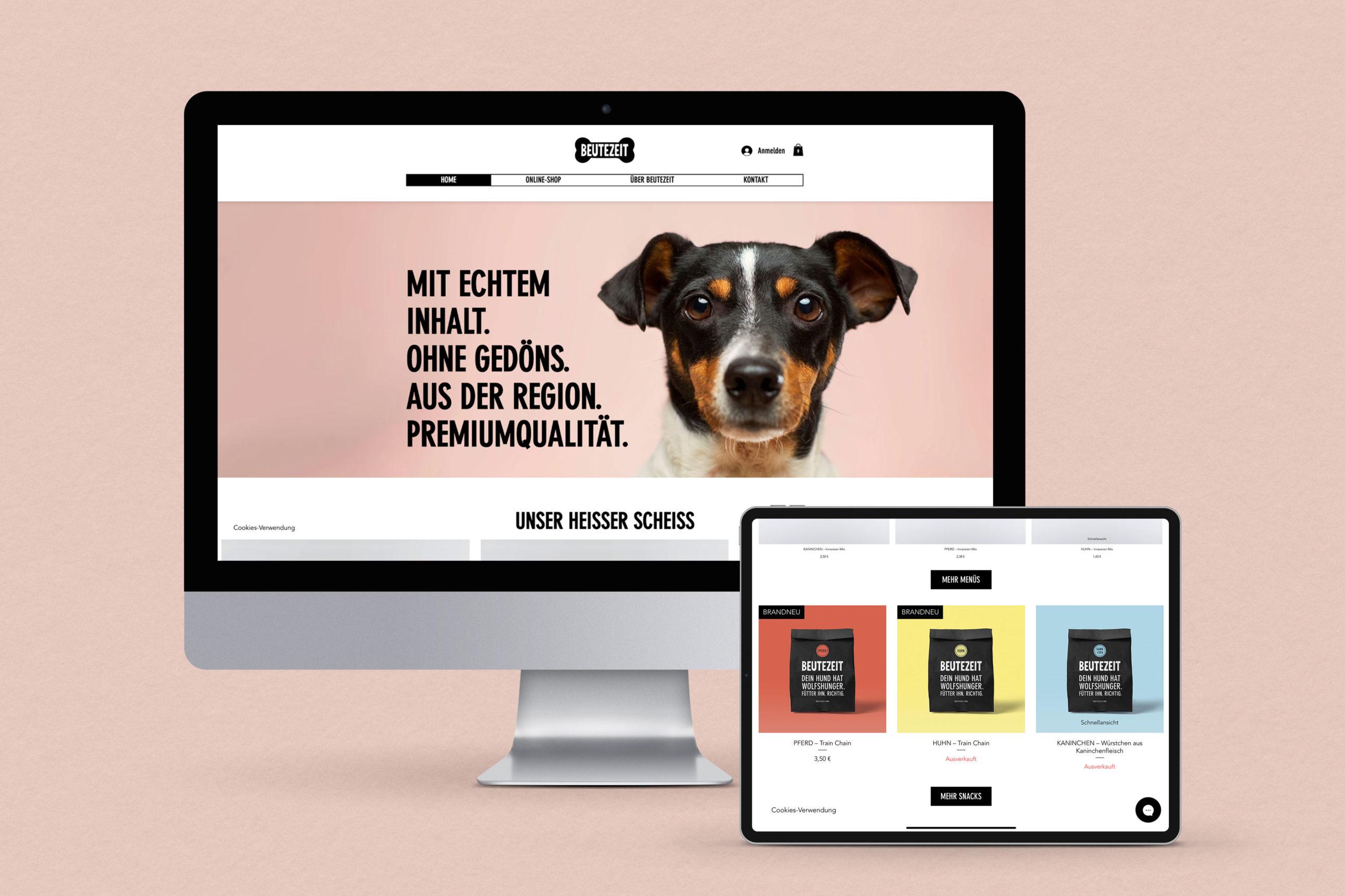 BEUTEZEIT, Website & Onlineshop von Zena Bala