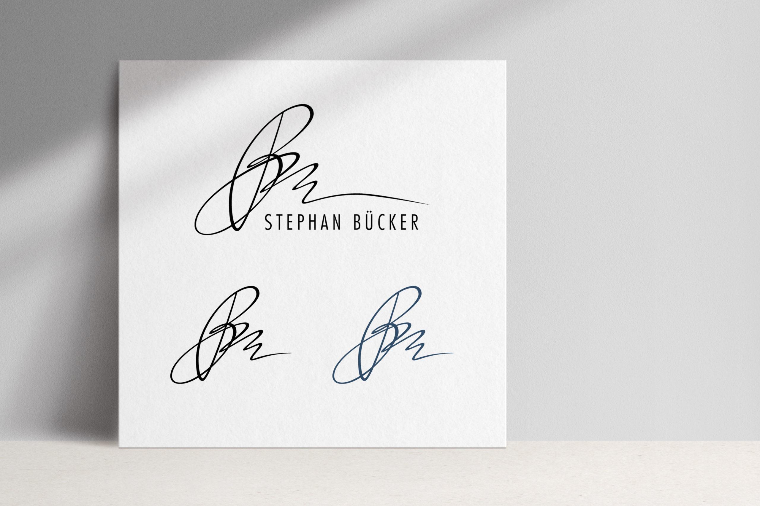 Dr. Stephan Bücker, Logodesign mittels Handletterung Workshop von Zena Bala